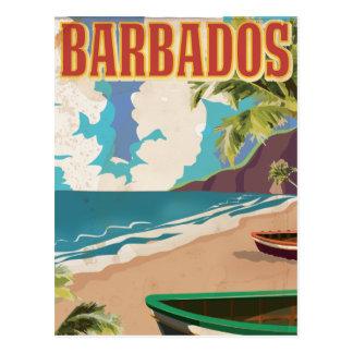 Vintages Reiseplakat Barbados Postkarte