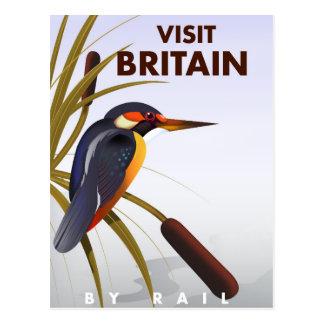 Vintages Reiseplakat Besuchs-Großbritanniens Postkarte