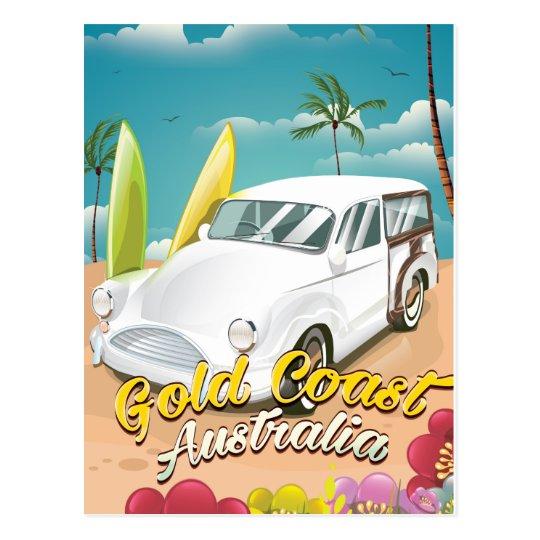 Vintages Reiseplakat Gold Coast Australien Postkarte
