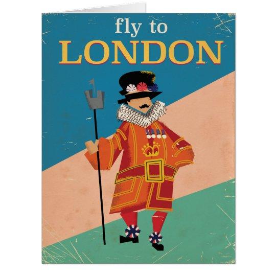 Vintages Reiseplakat Londons, England Riesige Grußkarte