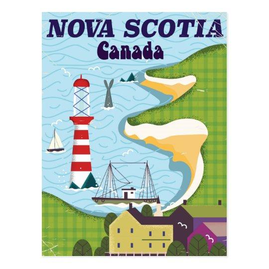 Vintages Reiseplakat Neuschottlands Kanada Postkarte