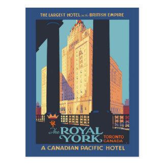 Vintages Reiseplakat Torontos Kanada Postkarte