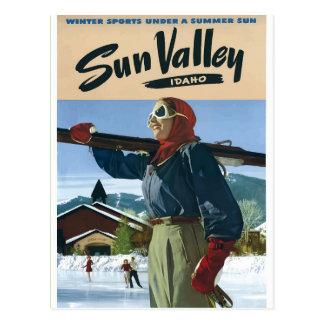 Vintages Reiseplakat USA Idahos Postkarte