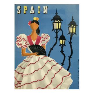 Vintages Reisepostkartenplakat Spanien Postkarte