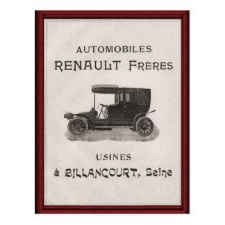 Vintages Renault-Automobilplakat Postkarte