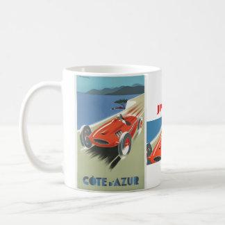 Vintages Rennen Cote d Azur Kaffeetasse