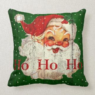 Vintages Retro Ho Ho Ho Weihnachtsmann-Kissen Kissen