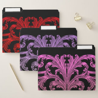 Vintages romantisches Goth rot, Veilchen und Rosa Papiermappe