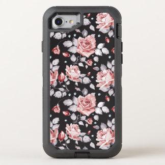 Vintages rosa Blumenmuster OtterBox Defender iPhone 7 Hülle