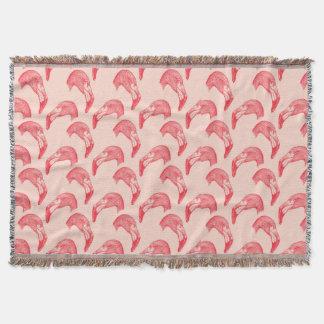 Vintages rosa Flamingo-Muster Decke