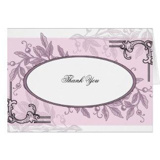 Vintages rosa lila Blumengeschäft Mitteilungskarte