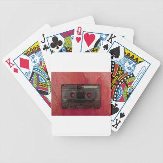 Vintages Rot der Kassettenband-Musik Bicycle Spielkarten