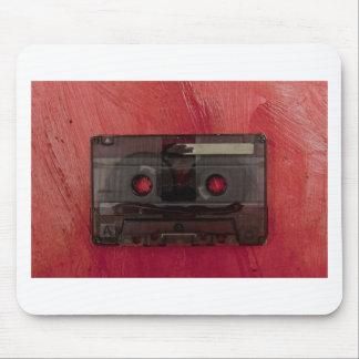 Vintages Rot der Kassettenband-Musik Mousepad