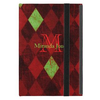 Vintages rotes Golddiamant-Monogramm Hülle Fürs iPad Mini
