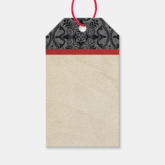Vintages Rotes und schwarz Geschenkanhänger