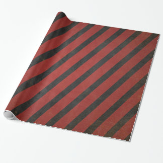 Vintages rotes und schwarzes gestreiftes geschenkpapier