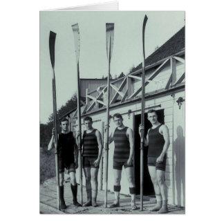 Vintages Rudersport-Team Karte