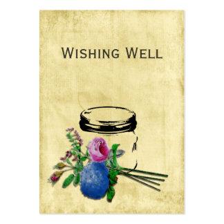 Vintages rustikales Maurerglas, das wohle Karten Mini-Visitenkarten