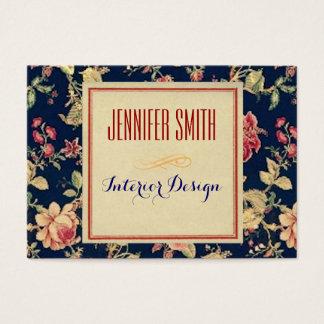 Vintages rustikales mit Blumenpapier Jumbo-Visitenkarten