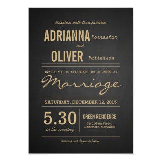 Vintages rustikales Tafel-Hochzeits-Skript 12,7 X 17,8 Cm Einladungskarte