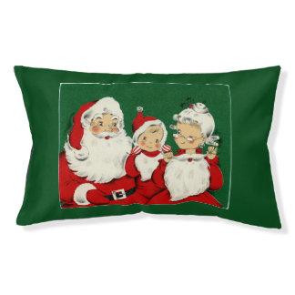 Vintages Sankt-Familien-Weihnachtskleines Haustierbett