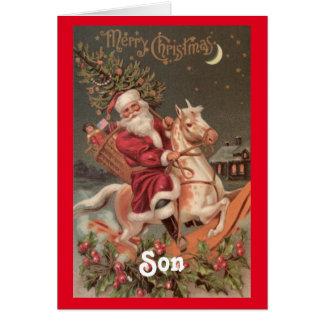 Vintages Sankt-Sohn-Weihnachten Karte