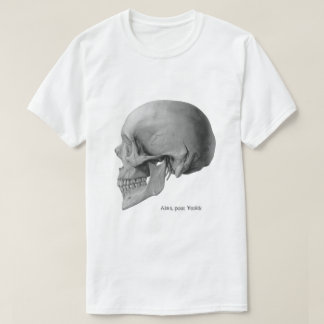 Vintages Schädelseite Hamlet-Illustrationst-shirt T-Shirt