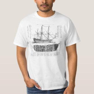 Vintages Schiff T-Shirt