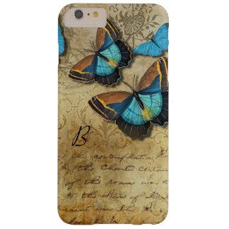 Vintages Schreiben und Schmetterlinge Barely There iPhone 6 Plus Hülle