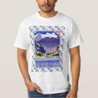 Vintages Schweizer Bahnplakat Luzern Interlaken T-Shirt