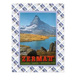 Vintages Schweizer BahnZermatt Postkarte
