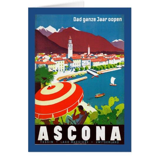 Vintages Schweizer-Reise-Plakat Grußkarte