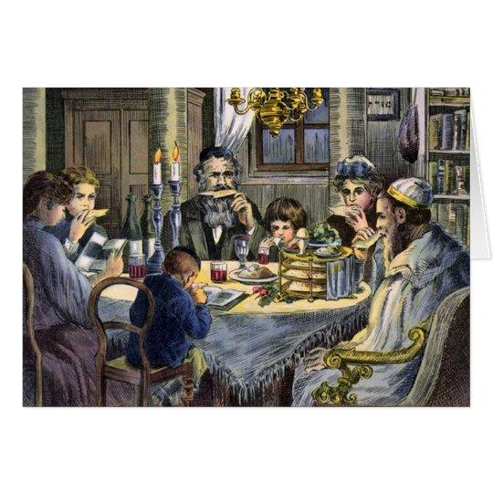 Vintages Seder Grußkarte