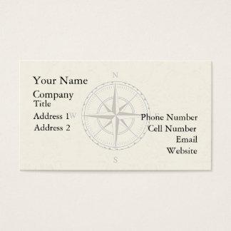 Vintages Seekompass-Elfenbein Visitenkarte