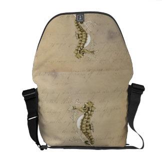 Vintages Seepferd Kurier Tasche