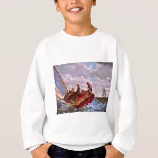 Vintages Segelnschlauchboot in einer hohen See Sweatshirt