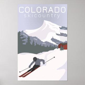 Vintages Ski-Plakat Poster