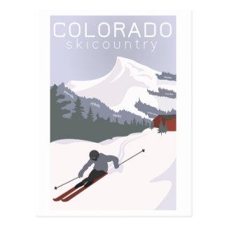 Vintages Ski-Plakat Postkarte