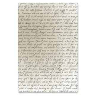 Vintages Skript-Text-Kunst-Seidenpapier Seidenpapier