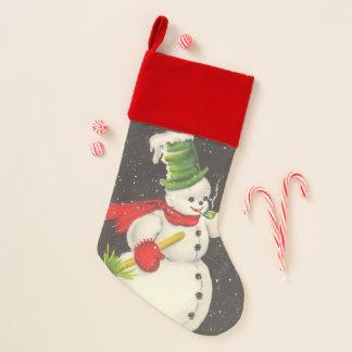 Vintages Snowman-Weihnachten Weihnachtsstrumpf