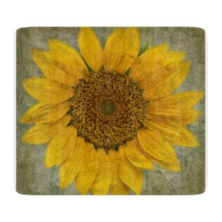 Vintages Sonnenblume-Glasschneiden-Brett Schneidebrett