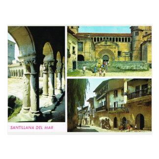Vintages Spanien, Santillana Del Mar, Santander Postkarte