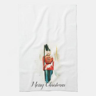 Vintages Spielzeug-Soldat-Weihnachtsküchen-Tuch Küchentuch