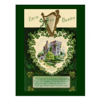 Vintages St Patrick Geschwätz-Schloss Postkarte