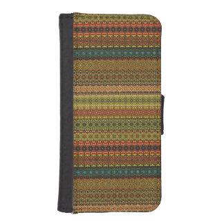 Vintages Stammes- aztekisches Muster Geldbeutel Hülle Für Das iPhone SE/5/5s