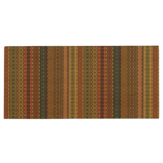 Vintages Stammes- aztekisches Muster Holz USB Stick 2.0