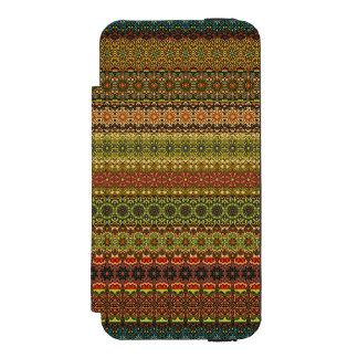 Vintages Stammes- aztekisches Muster Incipio Watson™ iPhone 5 Geldbörsen Hülle