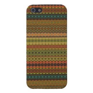 Vintages Stammes- aztekisches Muster iPhone 5 Etui