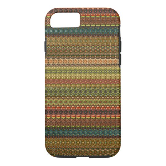 Vintages Stammes- aztekisches Muster iPhone 7 Hülle