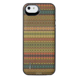Vintages Stammes- aztekisches Muster iPhone SE/5/5s Batterie Hülle